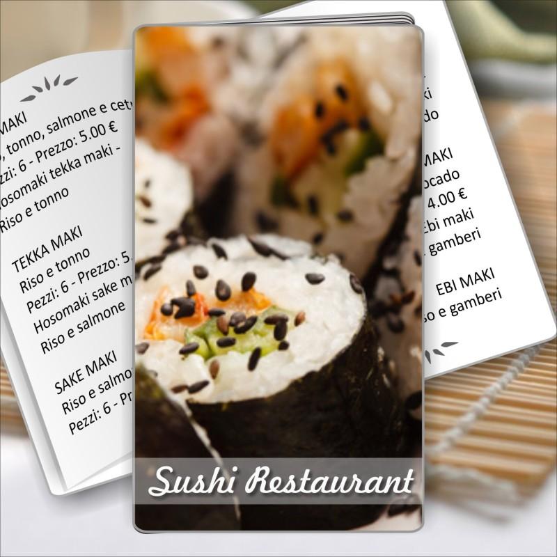 Porta menù Sushi restaurant 07 formato SLIM