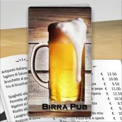 Porta menù Birreria 03 Transparent