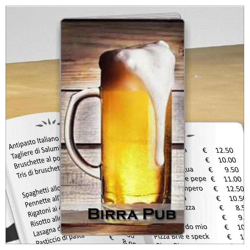 Porta menù personalizzabile per Birreria 03 Transparent formato SLIM