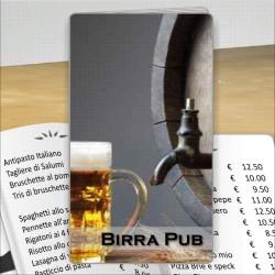 Porta menù Birreria 04 Transparent