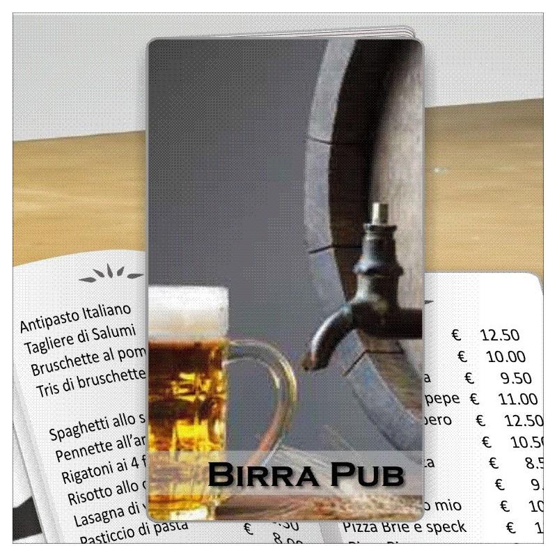 Porta menù personalizzabile Birreria 04 Transparent formato SLIM