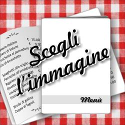 Porta menù personalizzabile con immagini