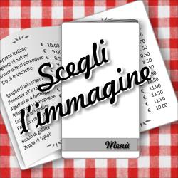Porta menù personalizzabile con immagini SLIM