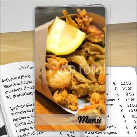 Porta menù Ristorante 23 Transparent