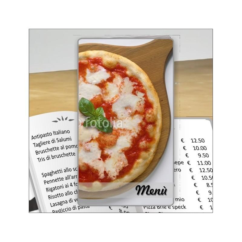 Porta menù prsonalizzabile Pizzeria 24 formato SLIM