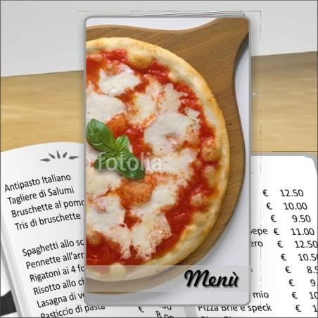 Porta menù Pizzeria 24 Transparent