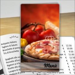Porta menù personalizzabile Pizzeria 26 formato SLIM