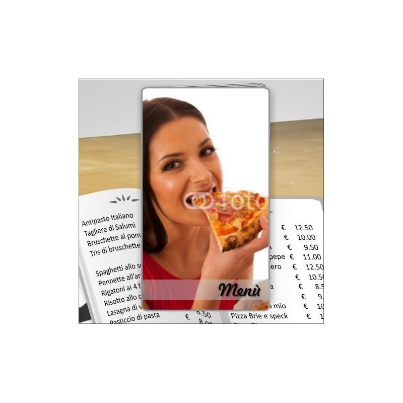 Porta menù personalizzabile per Pizzeria 28 formato SLIM