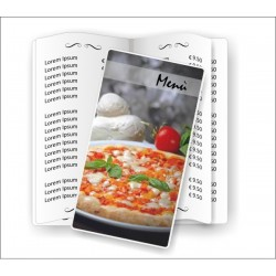 Portamenù personalizzabile  per pizzerie 01 formato SLIM