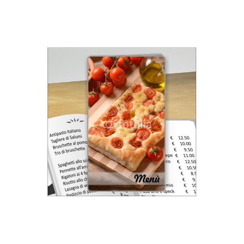 Porta menù personalizzabil pr pizzeria 30 formato SLIM