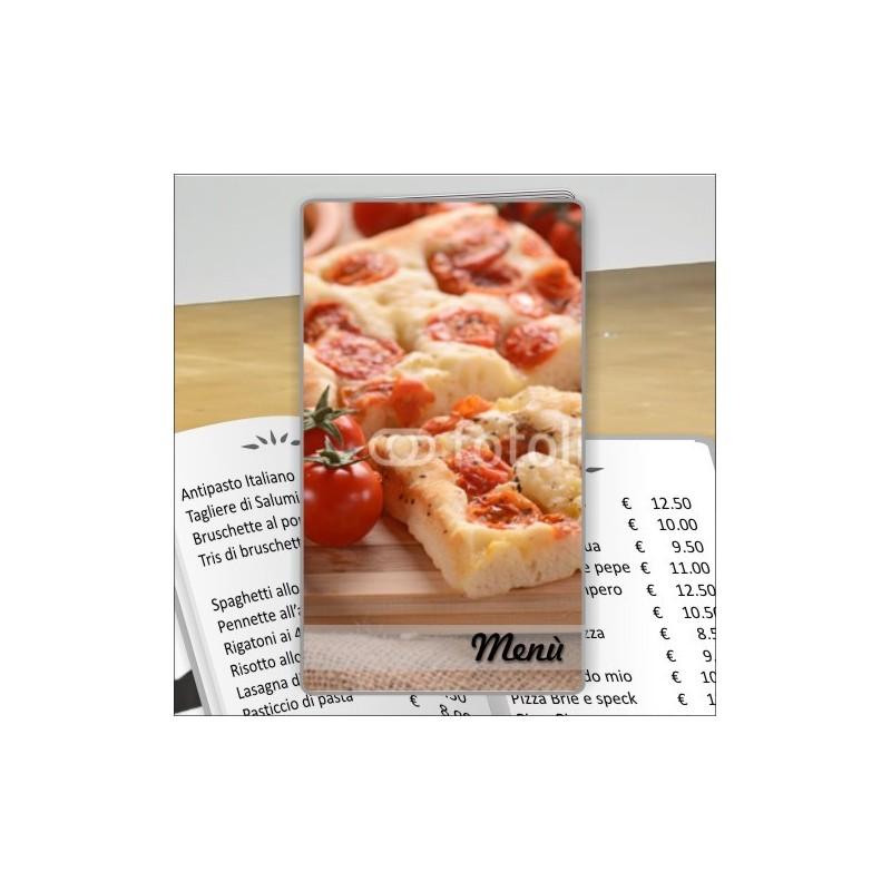 Porta menù personalizzabile Pizzeria 31 formato SLIM