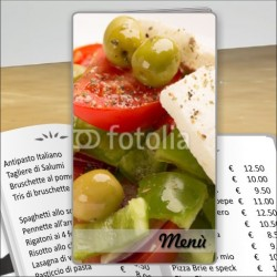 Porta menù Trattoria 33 Transparent