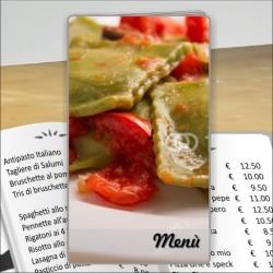 Porta menù personalizzabile Trattoria 34 formato SLIM