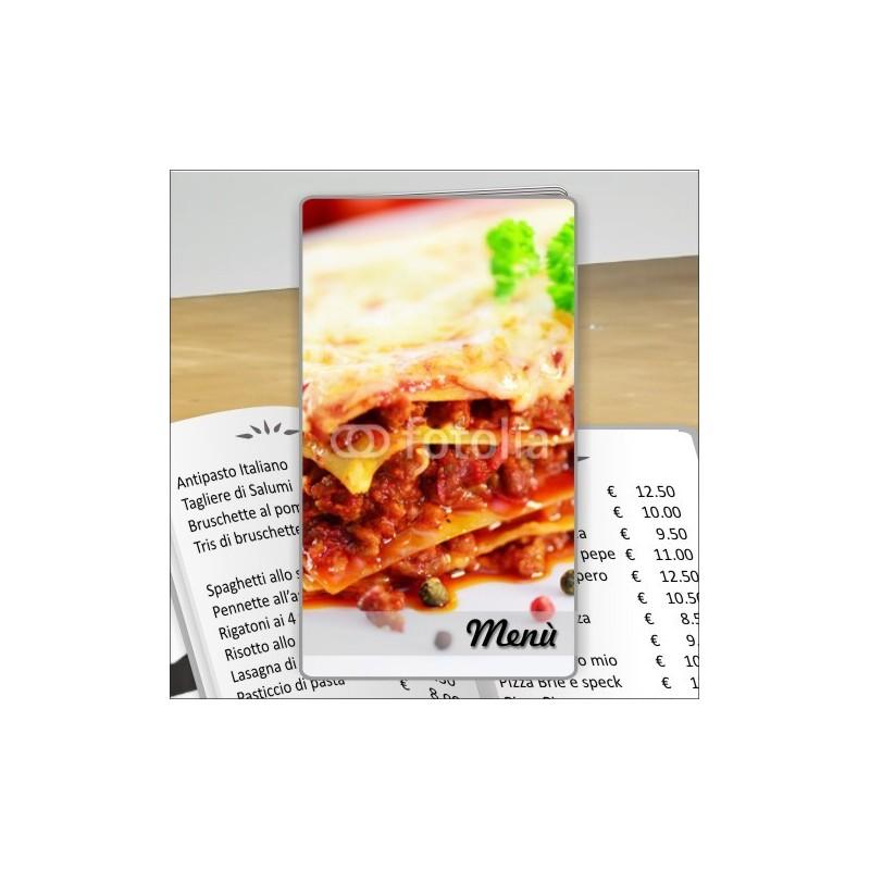 Porta menù personalizzabile per Trattoria 36 formato SLIM
