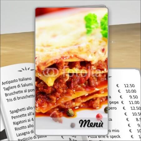 Porta menù Trattoria 36 Transparent