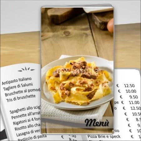 Porta menù Trattoria 40 Transparent