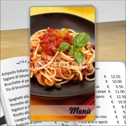 Porta menù Trattoria 42 Transparent