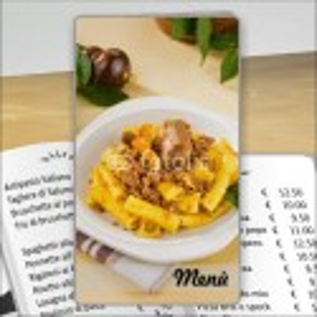 Porta menù Trattoria 44 Transparent