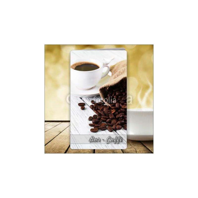 Porta menù Caffè 46 formato SLIM, personalizzabili.
