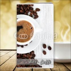 Porta menù Caffè 48 Transparent