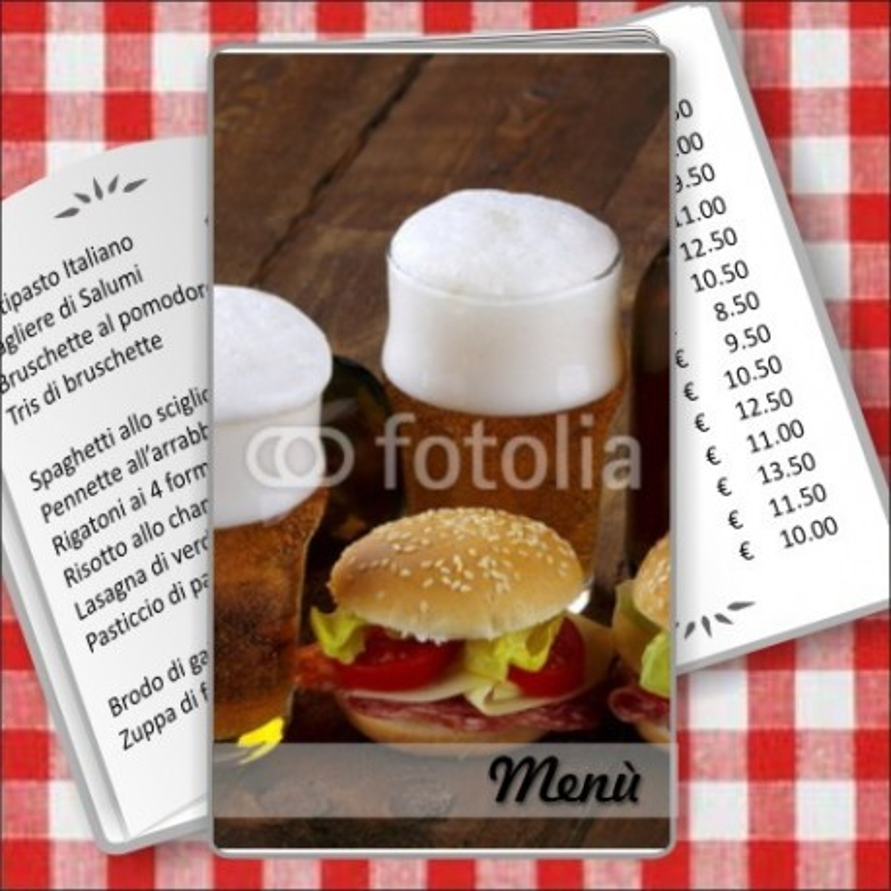 Porta menù personalizzabile Paninoteca 46 Transparent formato SLIM