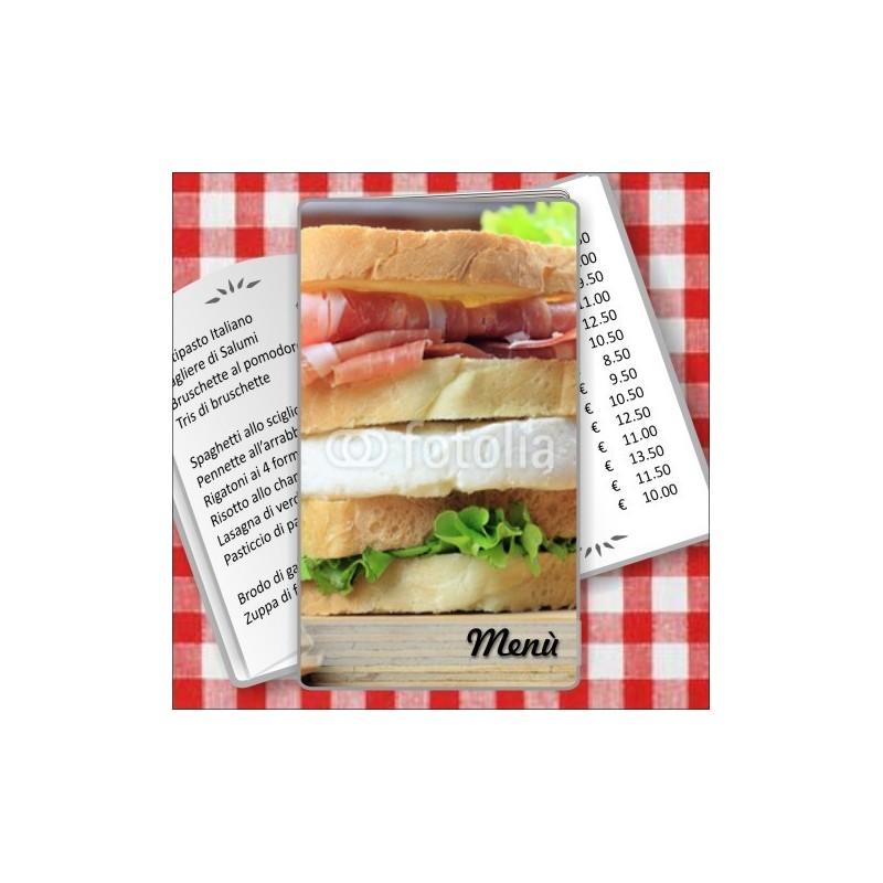 Porta menù Paninoteca 47 Transparent