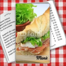 Porta menù Paninoteca 48 Transparent