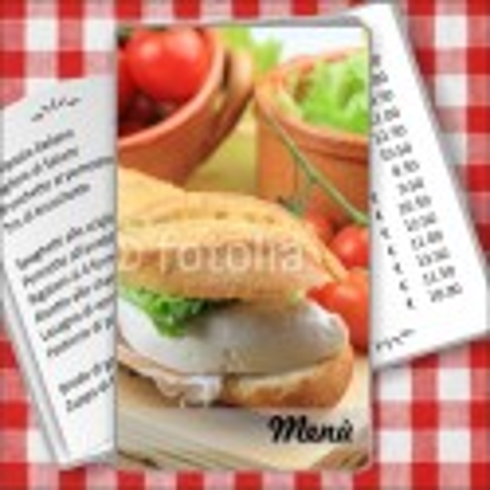 Porta menù Paninoteca 49 Transparent