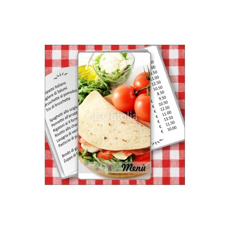 Porta menù personalizzabili Paninoteca 50 Transparent formato SLIM