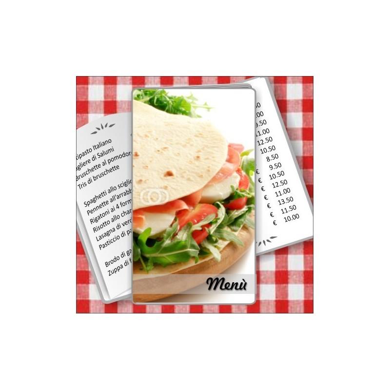 Porta menù personalizzabile Paninoteca 51 Transparent formato SLIM