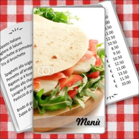 Porta menù Paninoteca 51 Transparent
