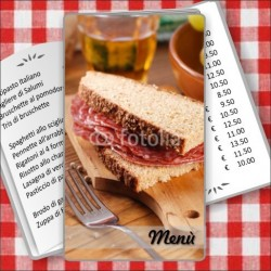 Porta menù Paninoteca 52 Transparent