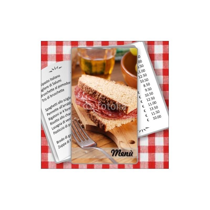 Porta menù personalizzabile Paninoteca 52 Transparent formato SLIM