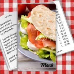 Porta menù Paninoteca 53 Transparent