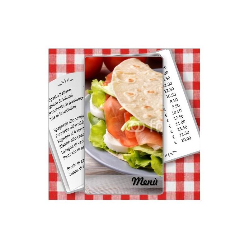 Porta menù personalizzabile per Paninoteca 53 Transparent formato SLIM