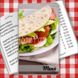 Porta menù Paninoteca 54 Transparent