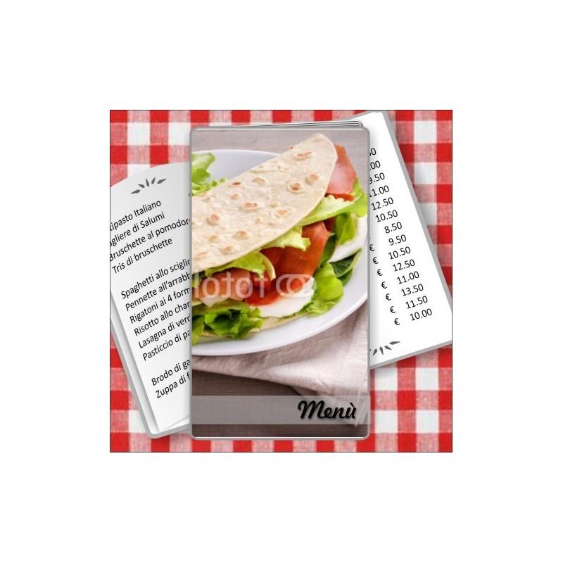 Portamenù personalizzabile Paninoteca 54 Transparent formato SLIM
