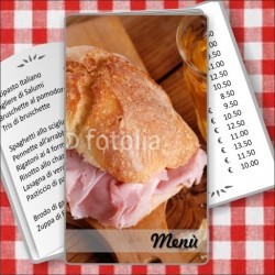 Porta menù Paninoteca 56 Transparent