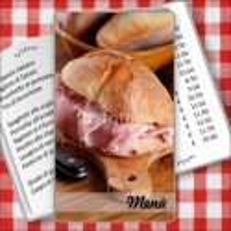 Porta menù Paninoteca 57 Transparent