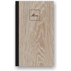Portamenù in simil legno e cuoio mod. Napoli SLIM A