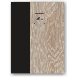 Portamenu in simil legno rovere e cuoio mod. Napoli SMART