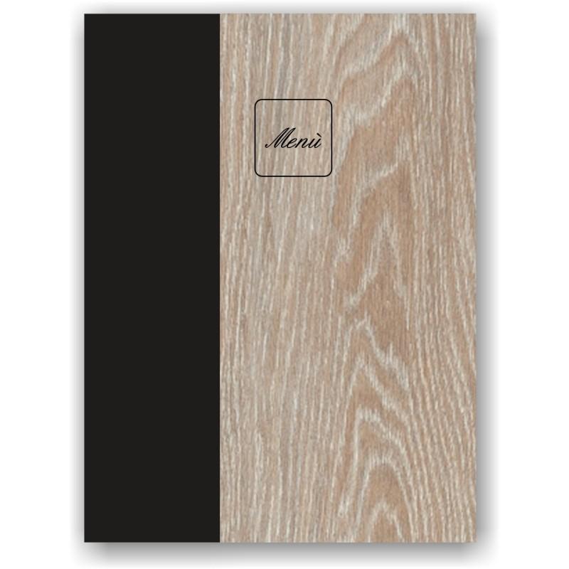 Portamenù in legno e cuoio mod. Napoli SMART A