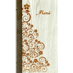 Portamenù in simil legno e cuoio mod. Firenze  SLIM A