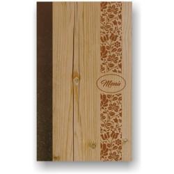 Portamenù in simil legno e cuoio mod. Naxos SLIM