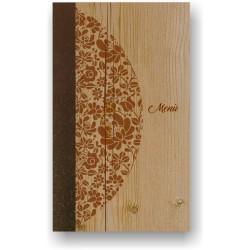 Portamenù in simil legno e cuoio mod. Venezia  SLIM A