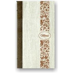 Portamenù in simil legno e cuoio mod. Pisa SLIM
